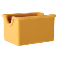 GET SC-66-TY Diamond Mardi Gras 3 1/2 inch x 2 1/2 inch Tropical Yellow SAN and Melamine Sugar Caddy - 24 / Case