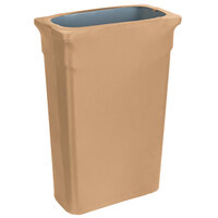 Marko EMB5026TLC23049 Embrace Trimline 23 Gallon Sandalwood Spandex Narrow Profile Waste Container Cover