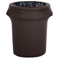 Marko EMB5026WC35633 Embrace 32 Gallon Dark Lava Spandex Round Waste Container Cover