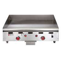 Wolf ASA24-30 -NAT Natural Gas 24 inch Countertop Griddle with Snap-Action Thermostatic Controls and Extra Deep Plate - 54,000 BTU