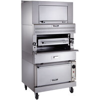 Vulcan VIR1SF-LP Liquid Propane Upright Infrared Broiler with Standard Oven Base and Finishing Oven - 150,000 BTU