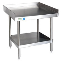 Regency 16 Gauge 24 inch x 24 inch All Stainless Steel Equipment Stand With Undershelf