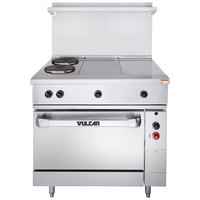 Vulcan EV36S-2FP2HT480 Endurance Series 36 inch Electric Range with 2 French Plates, 2 Hot Tops, and 1 Standard Oven - 480V