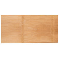 American Metalcraft BWB189 18 1/4 inch x 9 inch Carbonized Bamboo Serving Board