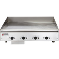 Wolf WEG48E-480/3 48 inch Electric Countertop Griddle with Thermostatic Controls - 480V, 3 Phase, 21.6 kW