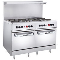 Vulcan EV48SS-8FP480 Endurance Series 48 inch Electric Range with 8 French Plates and 2 Ovens - 480V, 26 kW
