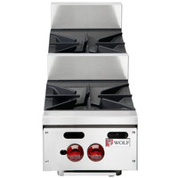 Wolf AHP212U-NAT Achiever Natural Gas 12 inch 2 Burner Step Up Countertop Range - 60,000 BTU