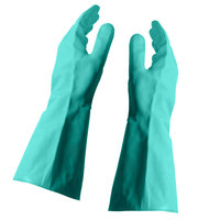 Nitrile Glove Flock Lined 15 Mil Large