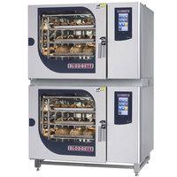 Blodgett BLCT-62-62G Natural Gas Double Boilerless Combi Oven with Touchscreen Controls - 81,800 / 81,800 BTU
