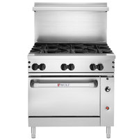 Wolf C36S-6BN Challenger XL Series Natural Gas 36 inch Manual Range with 6 Burners and Standard Oven - 215,000 BTU