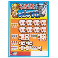 Safari Slots 5 Window Pull Tab Tickets - 3080 Tickets Per Deal - Total Payout: $1120