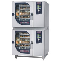 Blodgett BCM-61-61E Double Electric Combi Oven with Dial Controls - 208V, 3 Phase, 9 kW / 9 kW