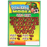 Mega Moola 3 Window Pull Tab Tickets - 2436 Tickets Per Deal - Total Payout: $1935