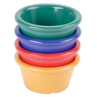 GET S-620-MIX Diamond Mardi Gras 2 oz. Melamine Ramekin, Assorted Colors - 48/Case