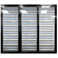 Styleline CL3072-NT Classic Plus 30 inch x 72 inch Walk-In Cooler Merchandiser Doors with Shelving - Satin Black, Right Hinge - 3/Set