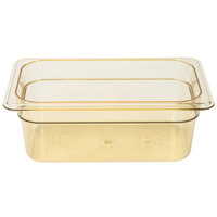 Cambro 44HP150 H-Pan 1/4 Size Amber High Heat Food Pan - 4 inch Deep