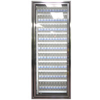 Styleline CL3072-NT Classic Plus 30 inch x 72 inch Walk-In Cooler Merchandiser Door with Shelving - Anodized Satin Silver, Left Hinge