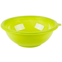 Fineline 5080-GRN Super Bowl 80 oz. Green PET Plastic Salad Bowl - 25/Case