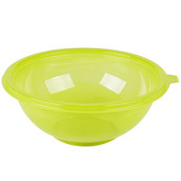 Fineline 5048-GRN Super Bowl 48 oz. Green PET Plastic Salad Bowl - 50/Case