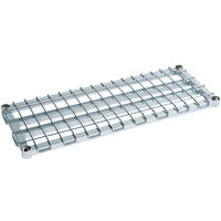 Metro 2430DRC 30 inch x 24 inch Chrome Heavy Duty Dunnage Shelf with Wire Mat - 1600 lb. Capacity