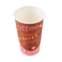 Choice 16 oz. Paper Hot Cup with Coffee Design 1000 / Case