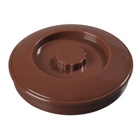 Carlisle 047528 7 1/4 inch Polypropylene Lennox Brown Tortilla Server with Interlock Lid - 24/Case