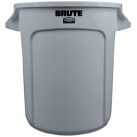 Rubbermaid BRUTE FG261000GRAY Gray 10 Gallon Trash Can