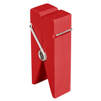American Metalcraft CPCHR 3 1/4 inch Red Clothespin Card Holder