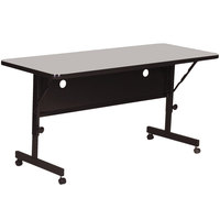 Correll FT2472-15 Deluxe 24 inch x 72 inch Gray Granite High Pressure Adjustable Height Flip Top Table