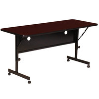 Correll FT2460-20 Deluxe 24 inch x 60 inch Mahogany High Pressure Adjustable Height Flip Top Table