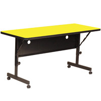Correll FT2460-38 Deluxe 24 inch x 60 inch Yellow Granite High Pressure Adjustable Height Flip Top Table