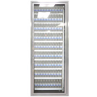 Styleline CL2472-2020 20//20 Plus 24 inch x 72 inch Walk-In Cooler Merchandiser Door with Shelving - Anodized Satin Silver, Right Hinge