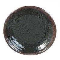 Tenmoku Black 10 1/2 inch Melamine Round Plate - 12/Pack