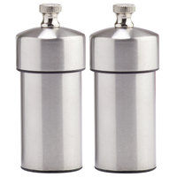 Chef Specialties 29910 Professional Series 4 inch Futura Stainless Steel Pepper Mill and Salt Mill Set