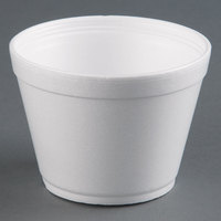 Dart Solo 16MJ32 16 oz. Customizable Squat White Foam Food Bowl 500 / Case