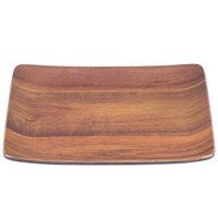 Carlisle EAG1169 Epicure Acacia 9 inch x 9 inch Woodgrain Melamine Tray - 12/Case