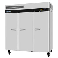 Turbo Air PRO-77R 78 inch Premiere Pro Series Three Section Solid Door Reach in Refrigerator - 76 Cu. Ft.