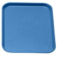 Cambro 1418FF168 Blue 14 inch x 18 inch Customizable Fast Food Tray 12/Case