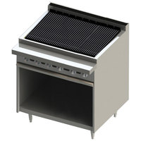 Blodgett BR-36B-LP Cafe Series Liquid Propane 36 inch Radiant Charbroiler with Cabinet Base - 90,000 BTU