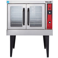 Vulcan VC4GD-2 1D150K Liquid Propane Single Deck Full Size Gas Convection Oven with Solid State Controls - 50,000 BTU