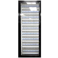 Styleline CL2672-2020 20//20 Plus 26 inch x 72 inch Walk-In Cooler Merchandiser Door with Shelving - Satin Black, Left Hinge