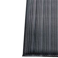 Ribbed Black Tredline Vinyl Anti-Fatigue Mat 27 inch x 60 inch - 3/8 inch Thick