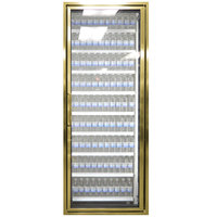 Styleline CL2672-2020 20//20 Plus 26 inch x 72 inch Walk-In Cooler Merchandiser Door with Shelving - Anodized Bright Gold, Right Hinge