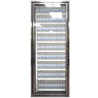 Styleline CL2672-2020 20//20 Plus 26 inch x 72 inch Walk-In Cooler Merchandiser Door with Shelving - Anodized Bright Silver, Left Hinge