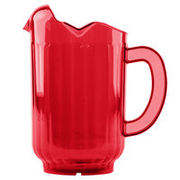 Vollrath 6010-22 Traex Tuffex 60 oz. Ruby Red Three-Lip Deluxe Beverage Pitcher