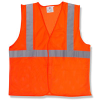Orange Class 2 High Visibility Surveyor's Safety Vest with Velcro® Closure - Large