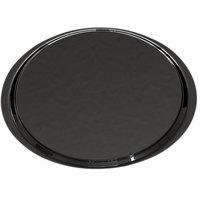 Cambro 1400ET110 EpicTread 14 inch Black Round Fiberglass Non-Skid Tray - 12/Pack
