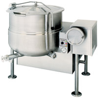 Cleveland KGL-40-T Natural Gas 40 Gallon Tilting 2/3 Steam Jacketed Kettle - 140,000 BTU