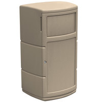 Commercial Zone 739102 PolyTec Series Beige 30 Gallon Side Entry Trash Can