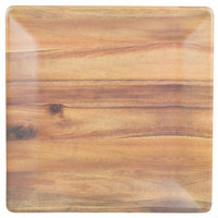 Tablecraft M1919ACA Frostone 18 3/4 inch Square Acacia Wood Melamine Tray